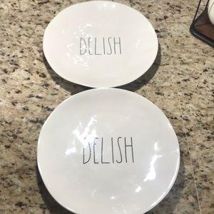 "2 Rae Dunn melamine delish plates 10"""